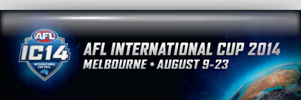 AFL International Cup 2014 banner