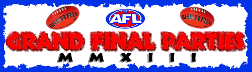 2013 AFANA Logo AFL Grand Final Parties
