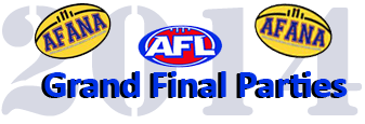 AFANA 2014 logo AFL Grand Final parties