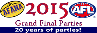 AFANA logo AFL Grand Final Parties 2015