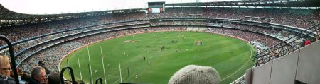 Panorama view of Melbourne Cricket Ground (MCG)