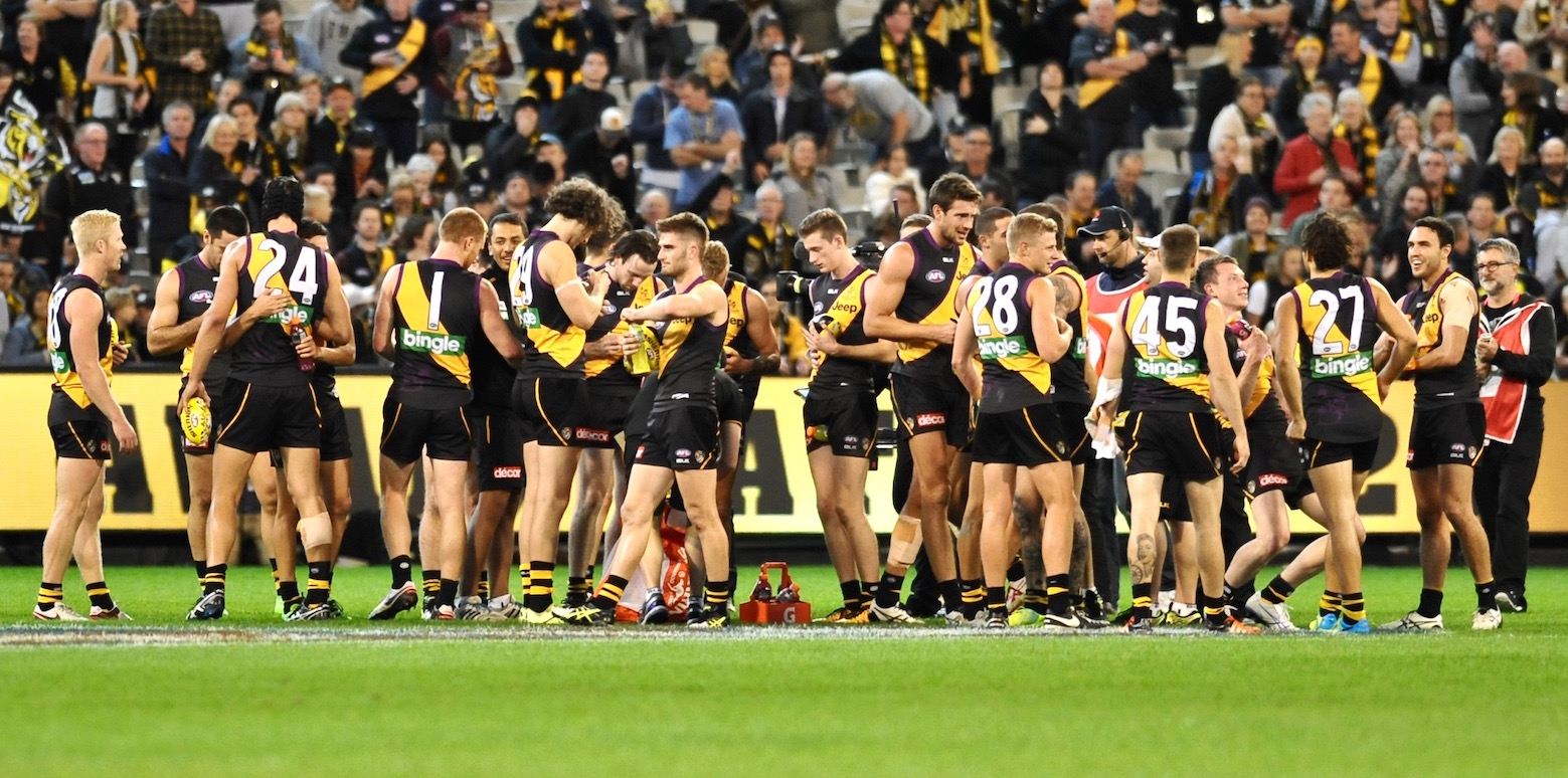 Richmond celebrates stunning win. Photo by Kim Densham for AFANA.