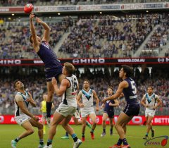 AFL Fremantle v Port Power, 2018 Optus Stadium.