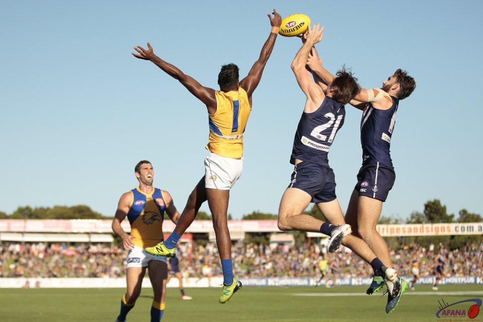 JLT Community Series Fremantle v West Coast, 2018 Fremantle Oval.