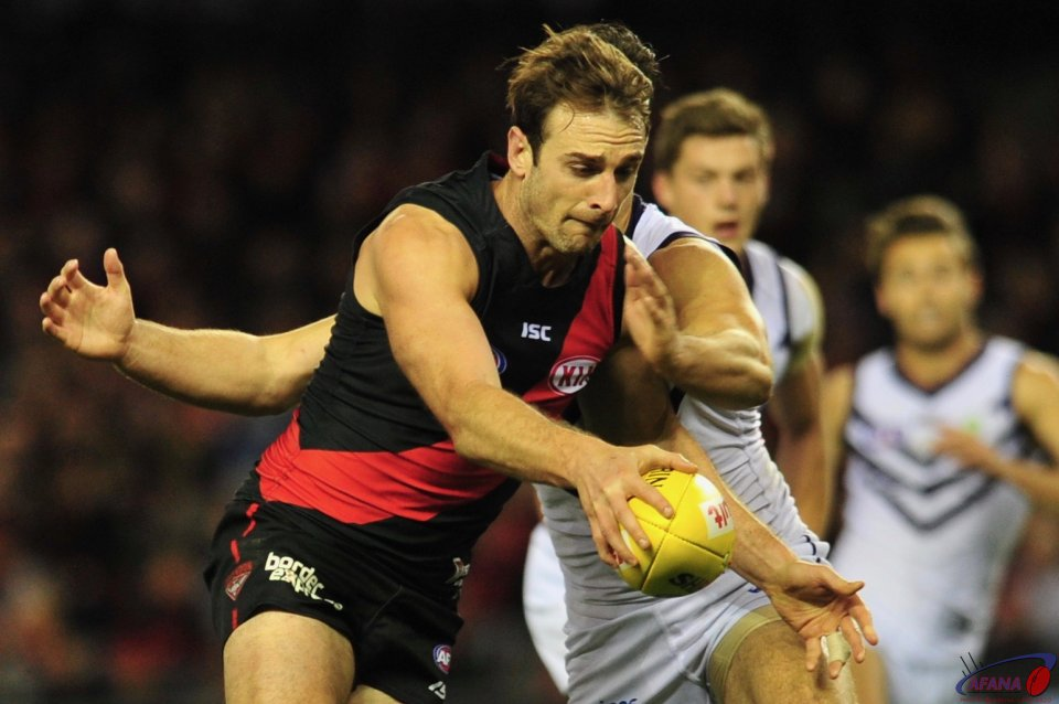 Jobe Watson showing some of his old form through the midfield