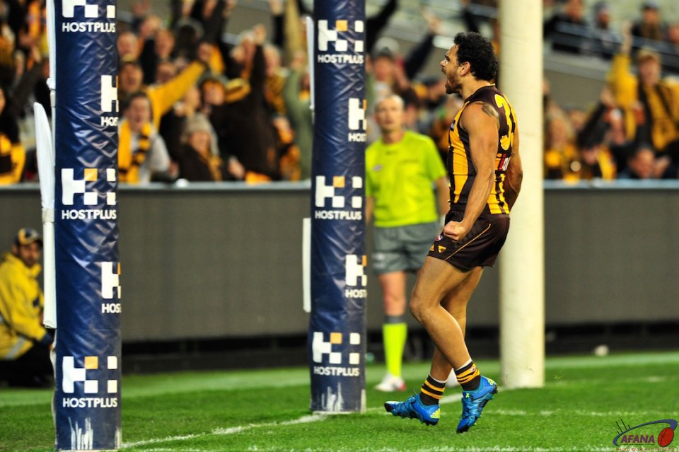 Rioli celebrates a bag of six goals