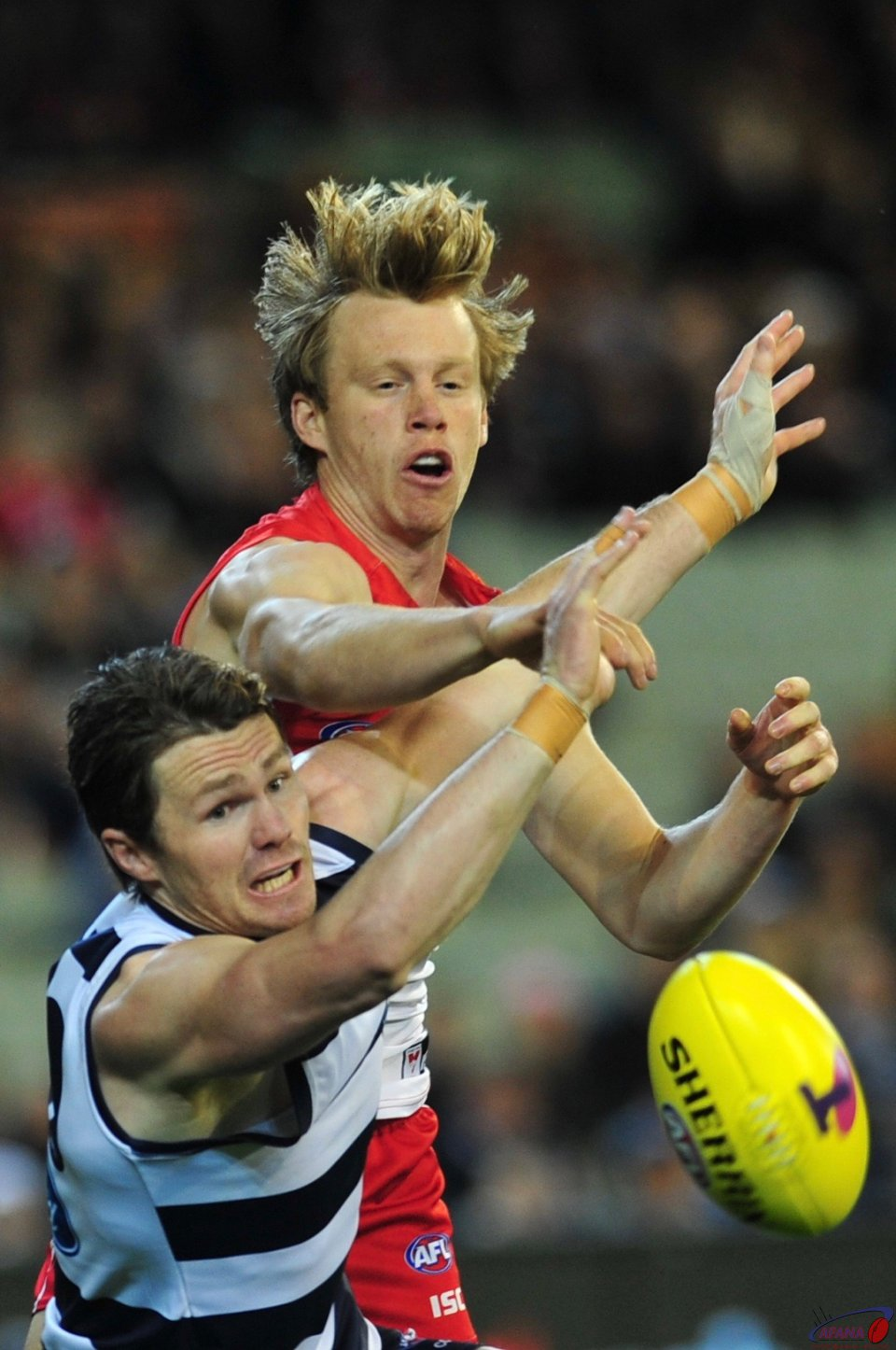 Dangerfield playing full forward shocks Swans defence