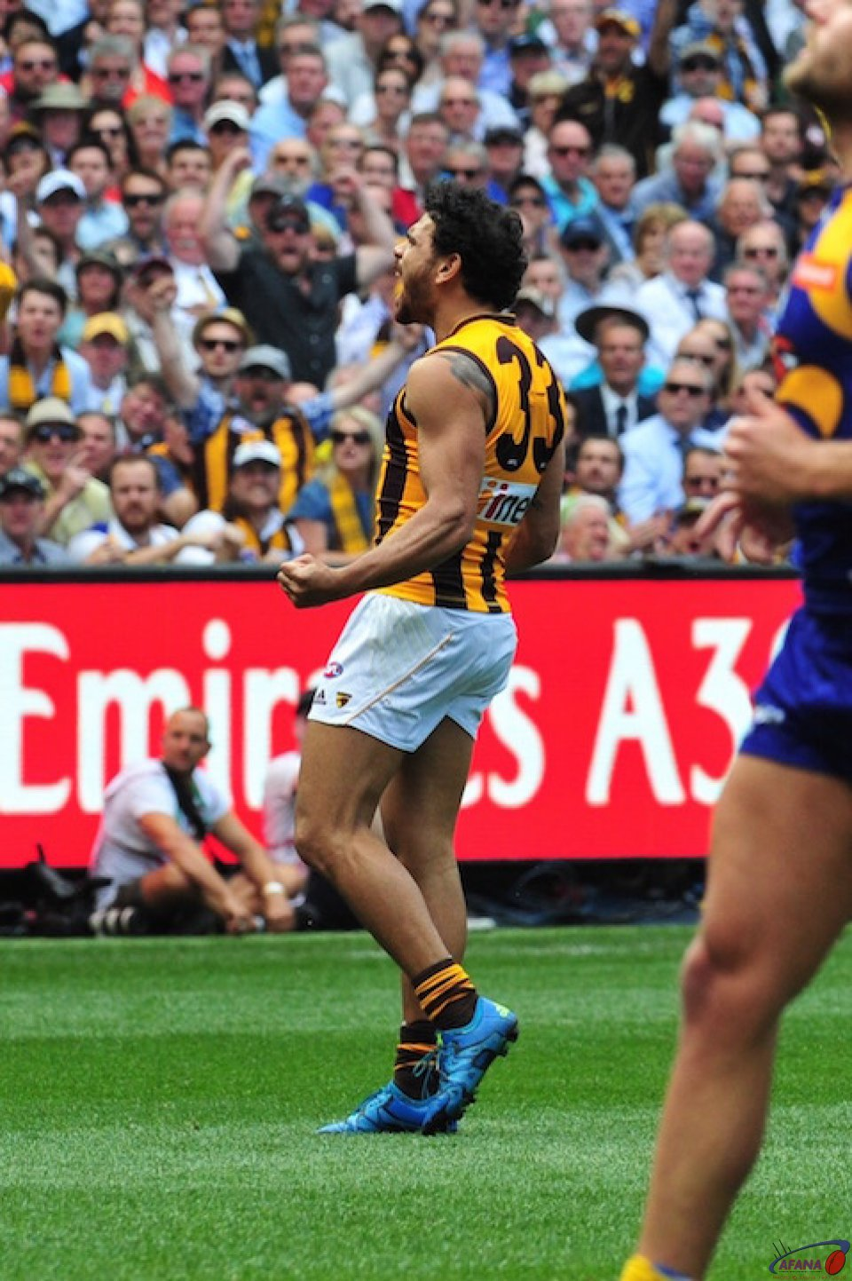 Rioli celebrates another goal