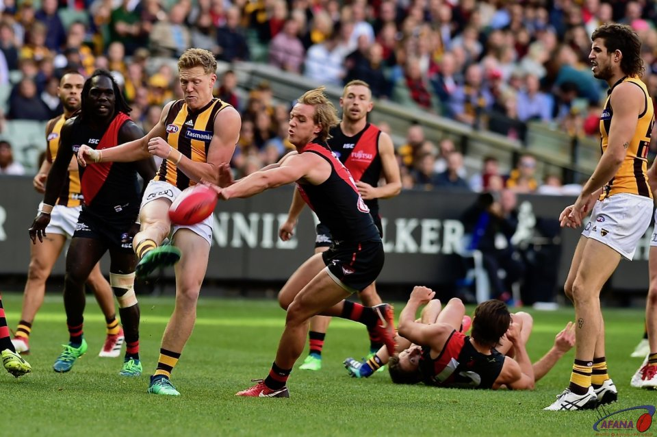 Sicily kick clear as Darcy Parish attempts to spoil.