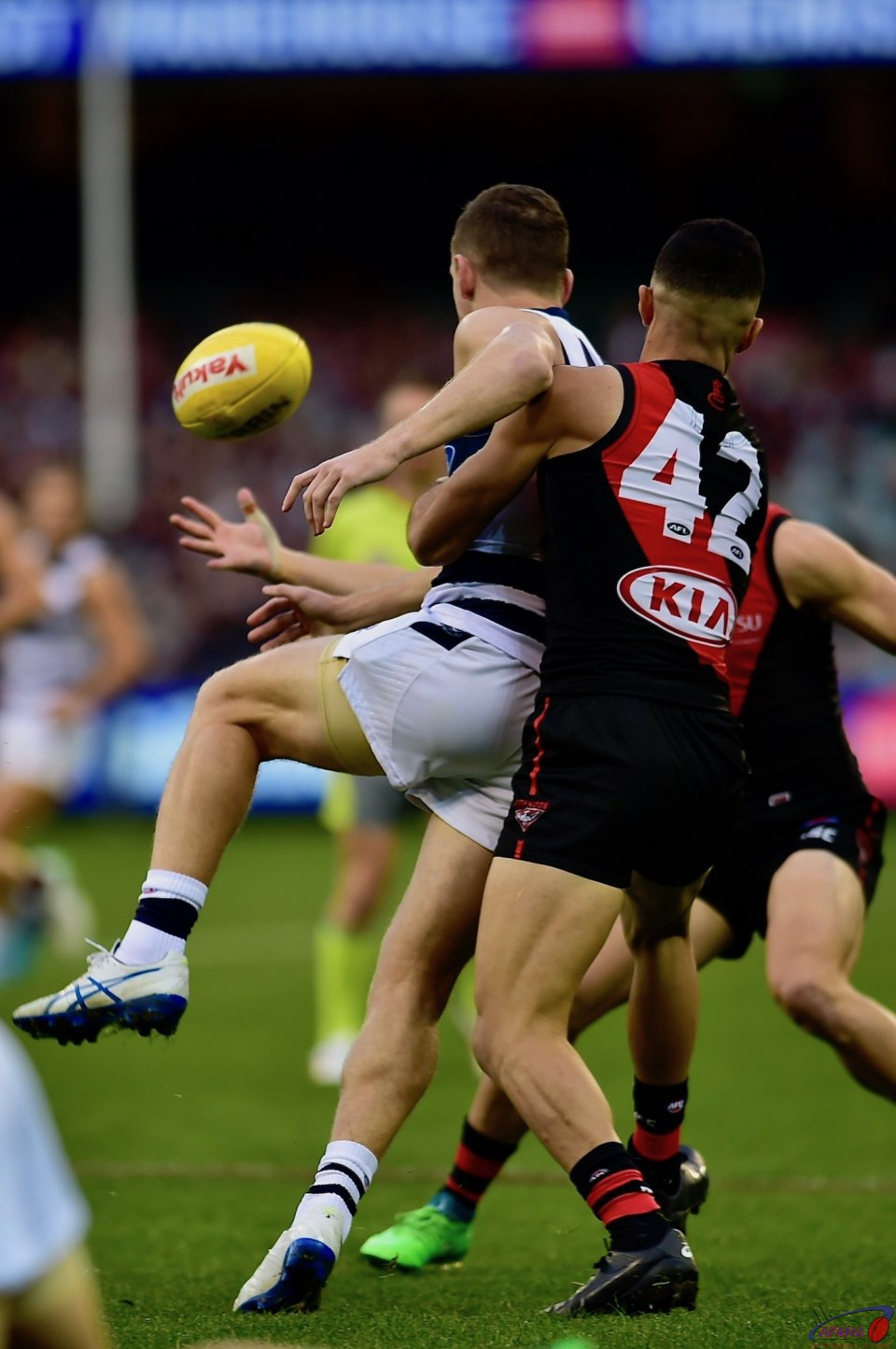 Saad tackle Selwood.
