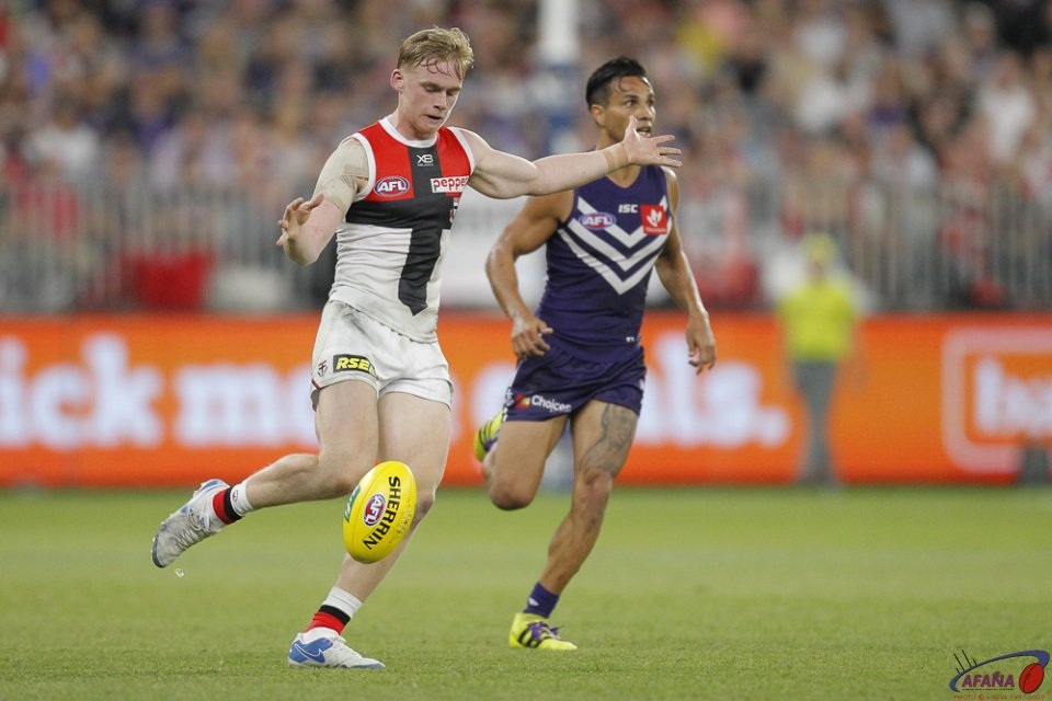 AFL Fremantle v St Kilda, 2018 Optus Stadium.