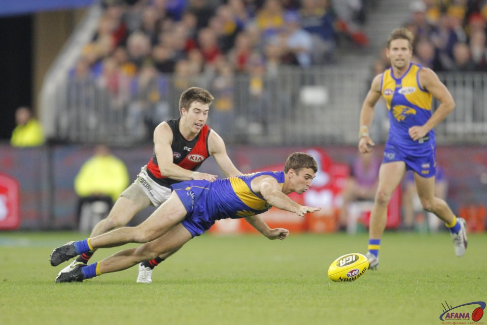 AFL West Coast v Essendon, 2018 Optus Stadium.