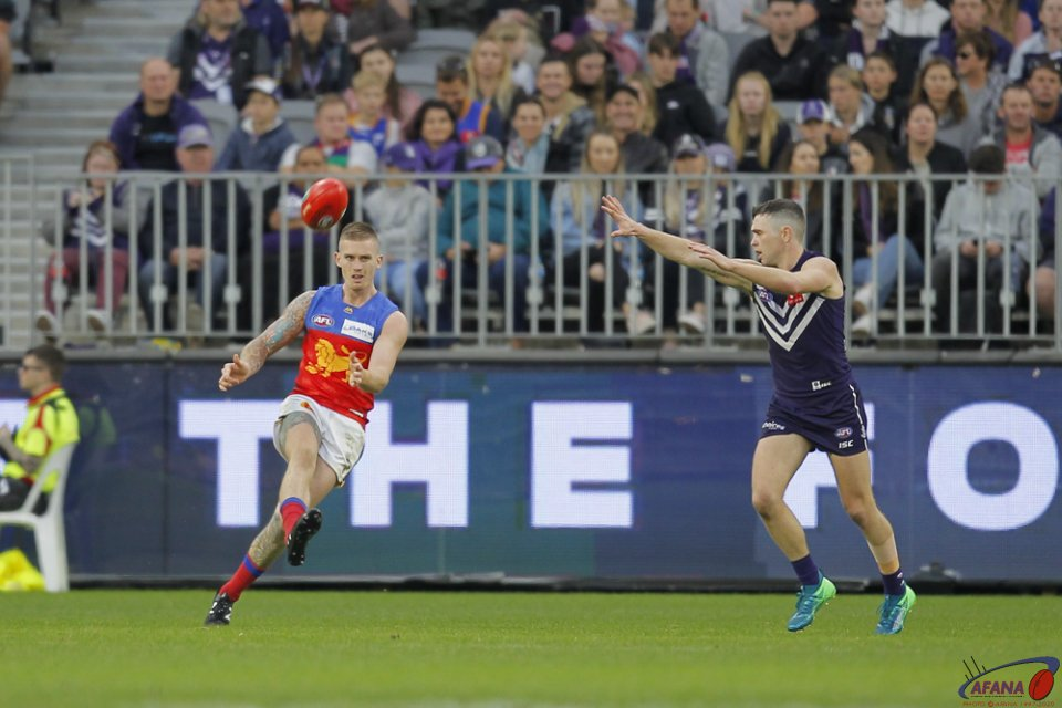 AFL Fremantle v Brisbane, 2018 Optus Stadium.
