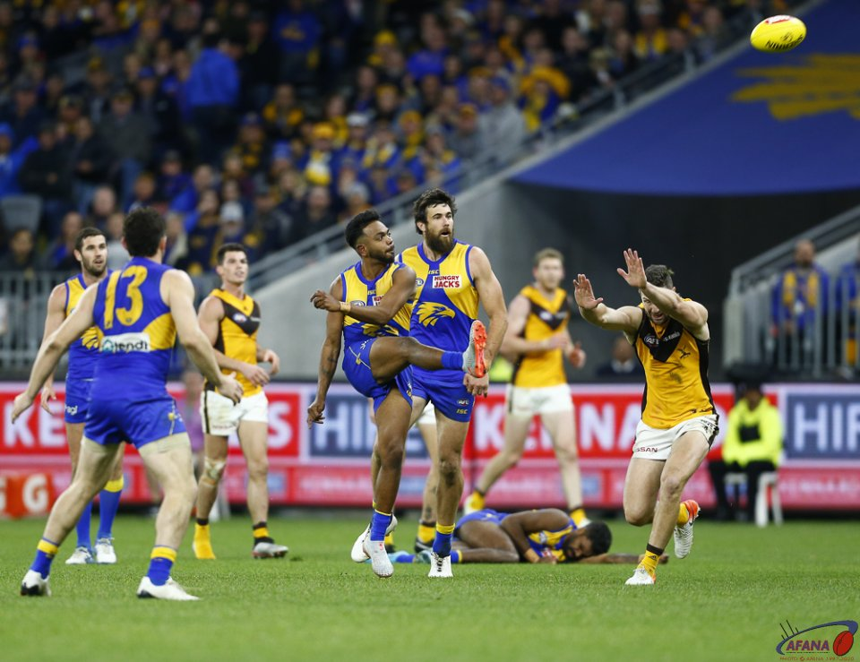 AFL West Coast v Hawthorn, Round 23, Optus Stadium.