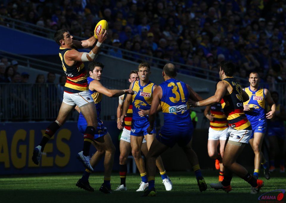 AFL West Coast v Adelaide, Round 21, Optus Stadium.