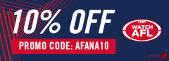 Get WatchAFL for 10% off with the AFANA discount code AFANA10