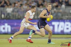 AFL Fremantle v Western Bulldogs, 2018 Optus Stadium.