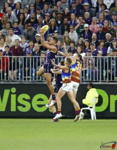 AFL Fremantle v Brisbane, Round 10, Optus Stadium.
