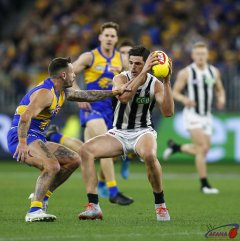 AFL West Coast v Collingwood, Round 17, Optus Stadium.