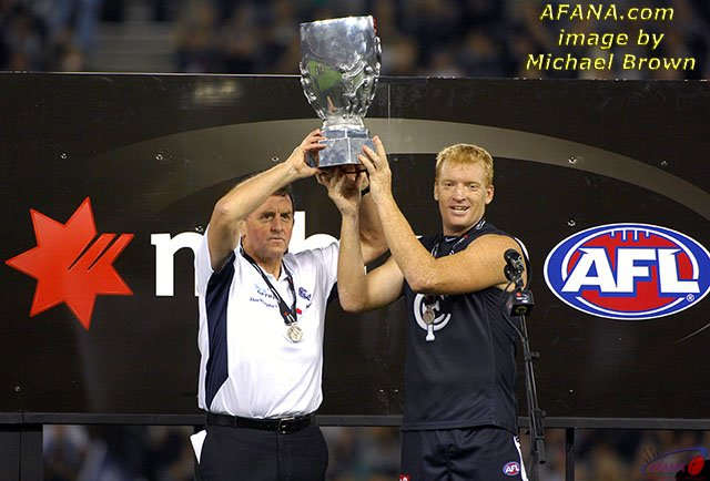 Up The NAB Cup To Their Fans After Carlton Defeated Brisbane By 25 Points In 2007 Grand Final Vs Telstra Dome Melbourne
