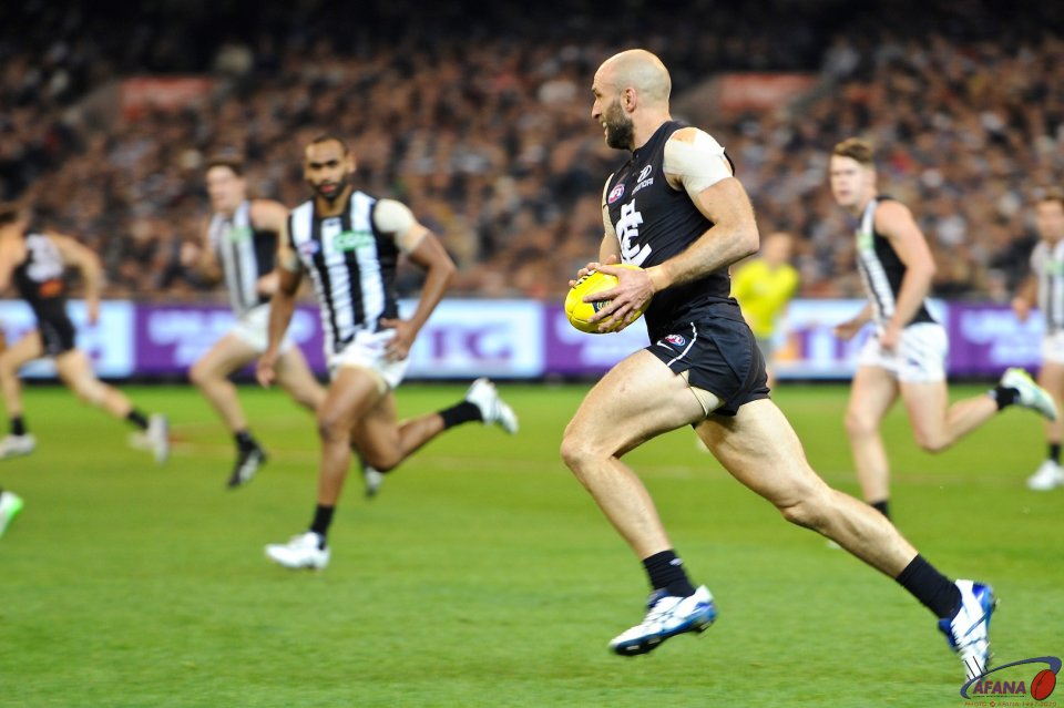 Chris Judd on a rare Calrton break