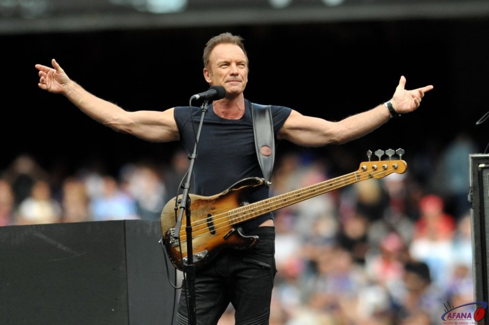 Sting at the AFL Grand Final