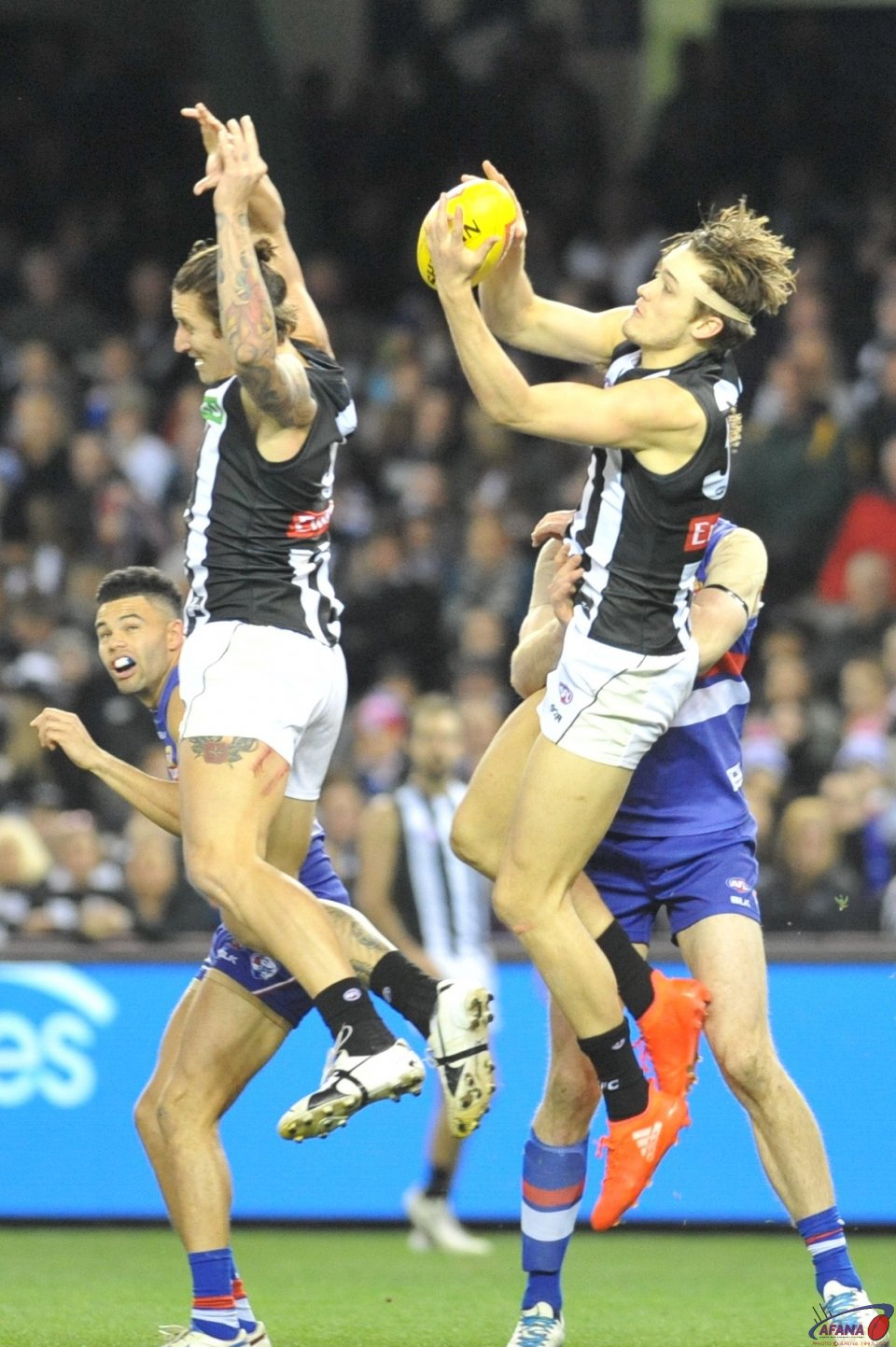 Jesse White misses , Darcy Moore Hold the mark