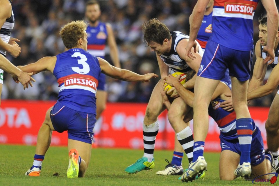 Dangerfield in the the thick of things as the Cats mount another attack