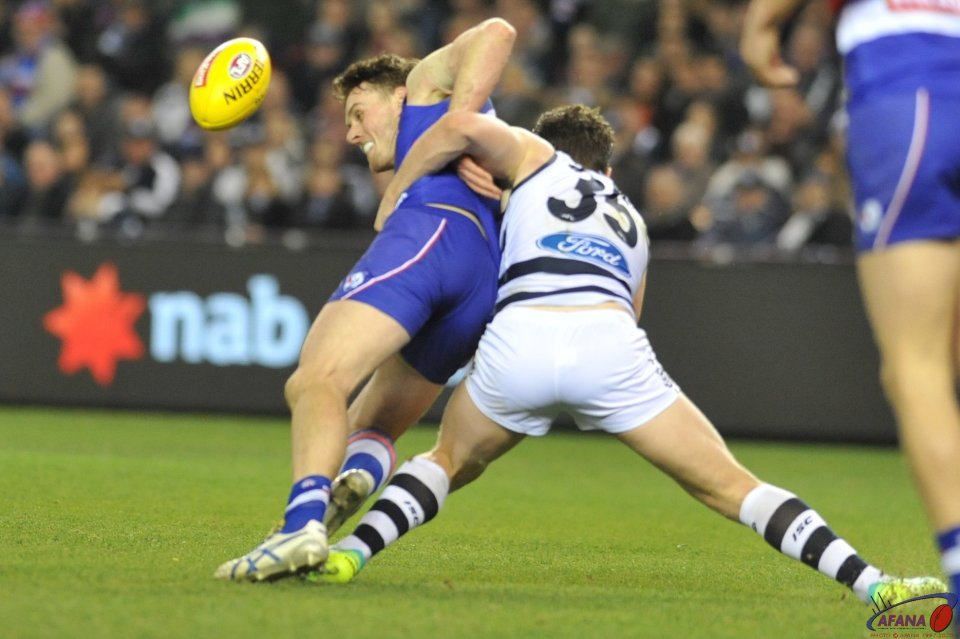 Tackles, runs, jumps, Dangerfield in Brownlow form