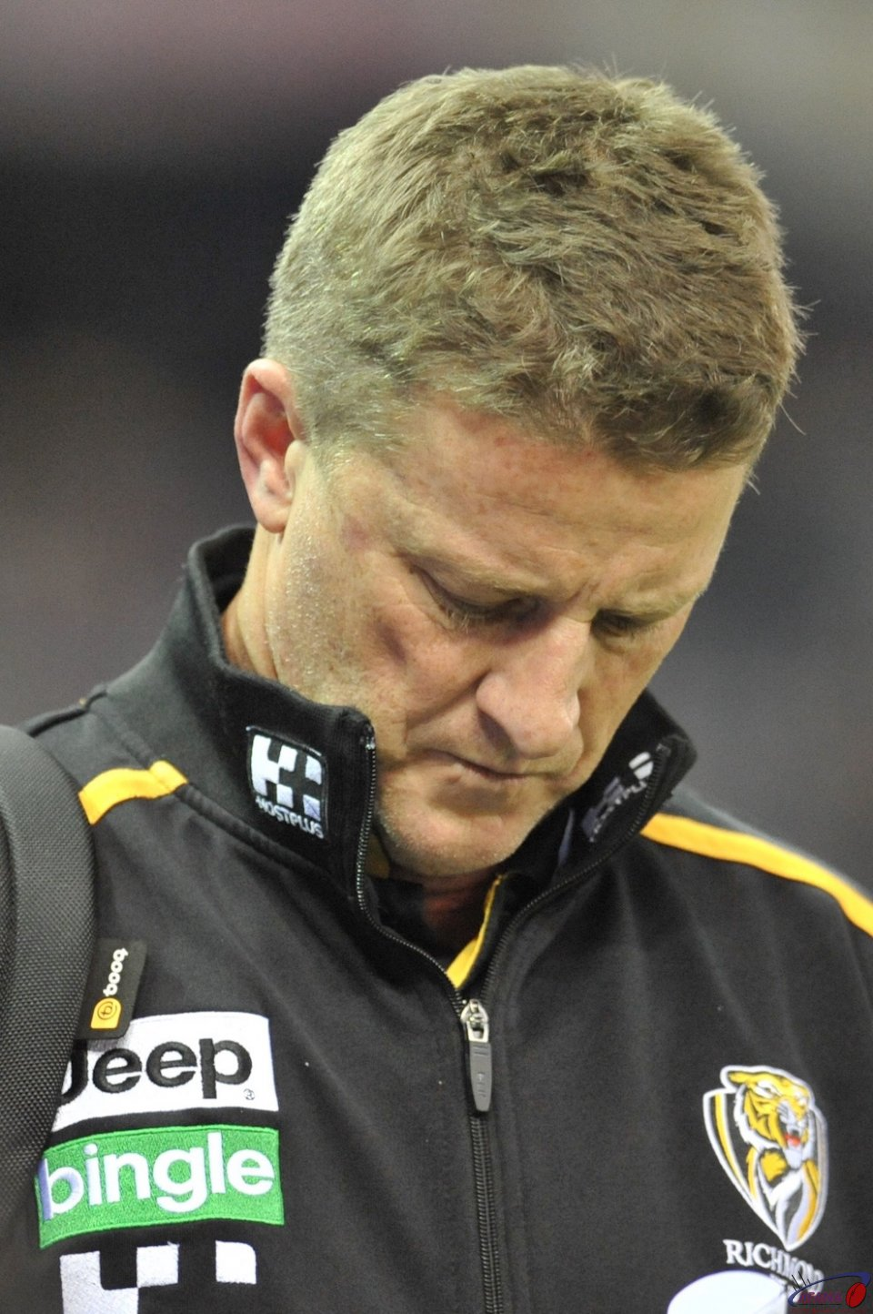 A downcast Damien Hardwick after another Tigers loss