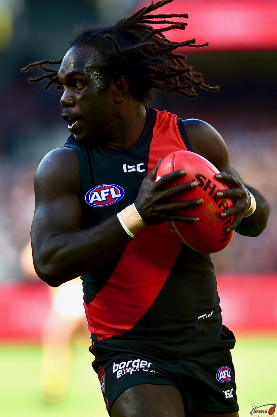 Anthony McDonald-Tipungwuti has a run on the wing.
