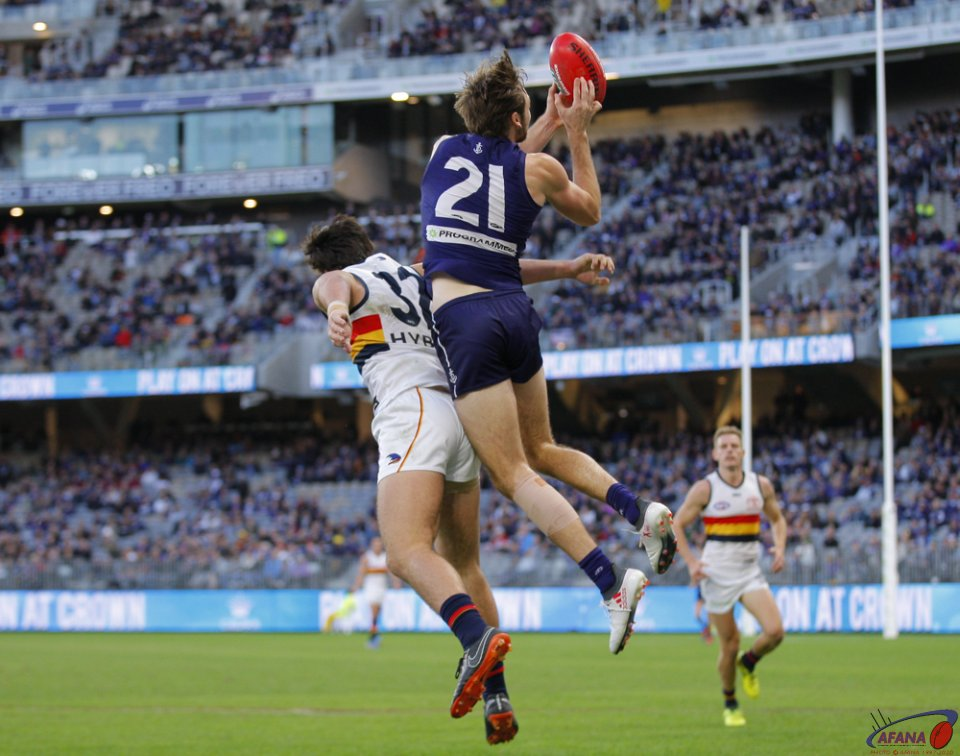AFL Fremantle v Adelaide, 2018 Optus Stadium.