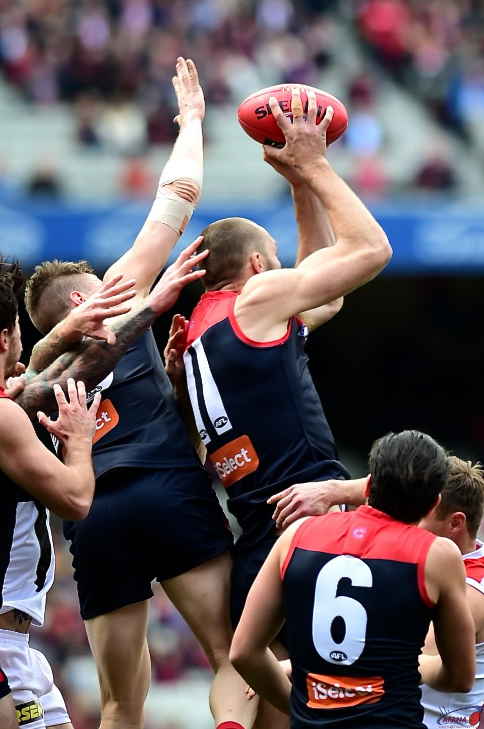 Gawn defensive mark.
