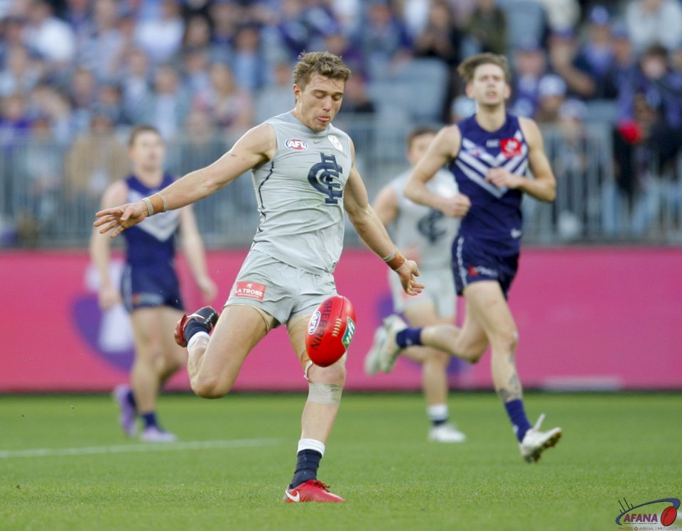 AFL Fremantle v Carlton, 2018 Optus Stadium.