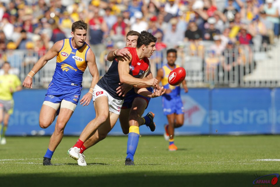 AFL West Coast v Melbourne, 2018 Optus Stadium.
