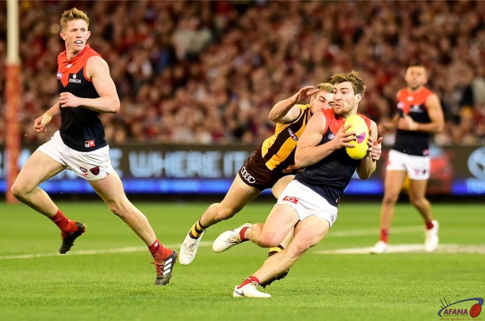 Jack Viney and Tom Mitchell