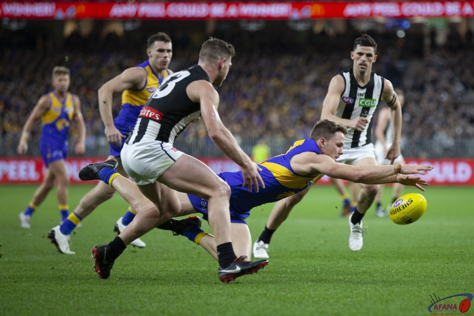 AFL West Coast v Collingwood, Qualifying Final, 2018 Optus Stadium.