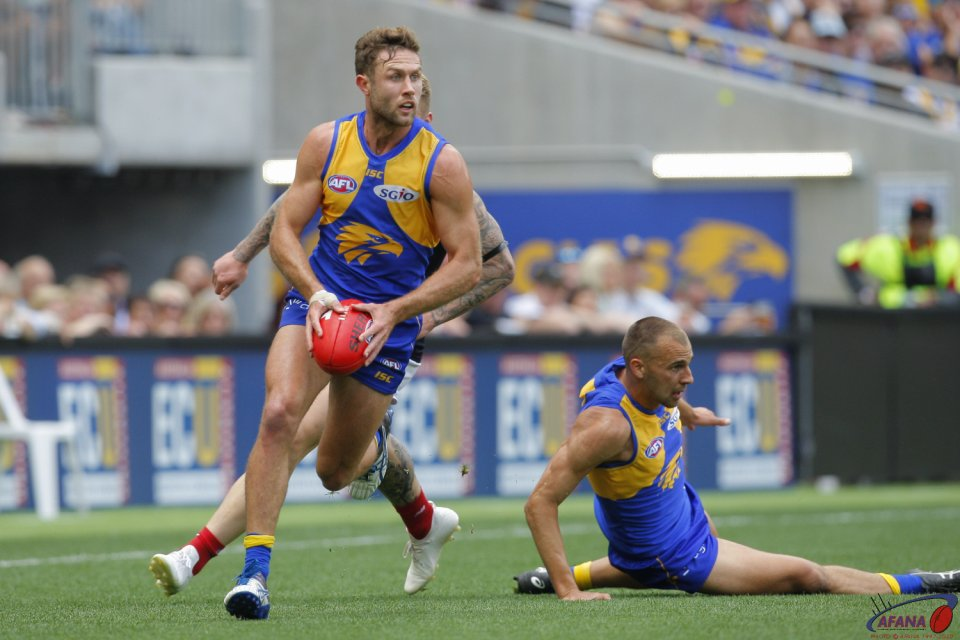 AFL West Coast v Melbourne, 2nd Preliminary Final, 2018 Optus Stadium.