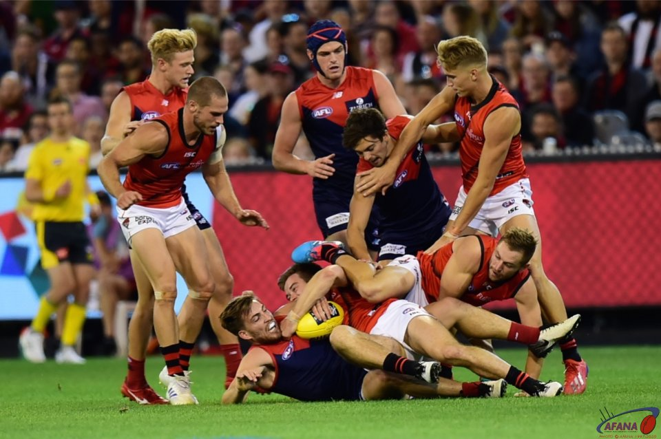 Merrett tackles Viney