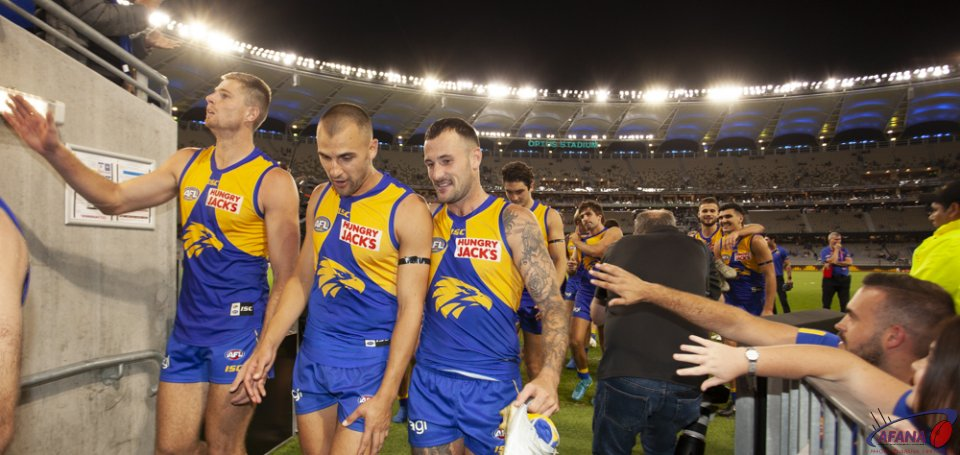 AFL West Coast v Fremantle, Round 4, 2019 Optus Stadium.
