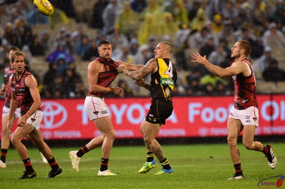 dustin Martin and Shaun McKernan