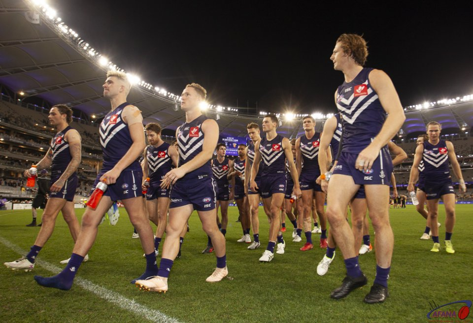 AFL Fremantle v Richmond, Round 8, Optus Stadium.